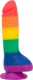 Addiction - Justin Rainbow Siliconen Dildo - 20 cm - Addiction   PleasureToys.nl