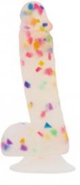 Addiction - Party Marty Confetti Dildo - 19 cm - Addiction   PleasureToys.nl