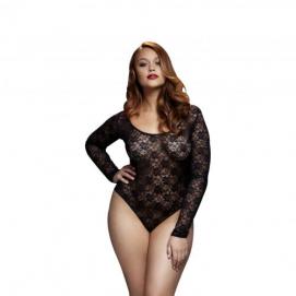 Baci - Kanten Bodysuit Met Open Achterkant - Curvy - Baci Lingerie | PleasureToys.nl