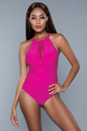 Briella Badpak - Fuchsia - Be Wicked Swimwear | PleasureToys.nl