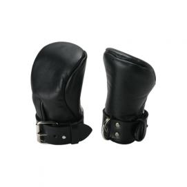 Deluxe Gewatteerde Bondagehandschoenen - Strict Leather | PleasureToys.nl