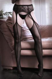Dim The Lights Jarretel Panty - Sheer Fantasy | PleasureToys.nl