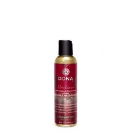 Dona Kissable Massage oil Strawberry - Dona-by-Jo   PleasureToys.nl