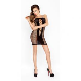 Doorzichtig zwart jurkje met open zijkanten - Passion | PleasureToys.nl