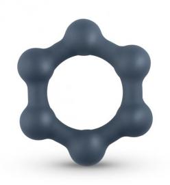 Hexagon Cockring Met Stalen Kogels - Boners   PleasureToys.nl