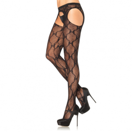 Kanten Panty Met Jarretel Effect - Leg Avenue | PleasureToys.nl