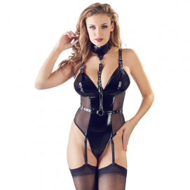 Lak Body Met Halsband - Black Level | PleasureToys.nl