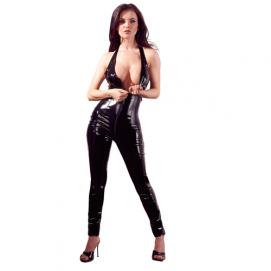 Lak Catsuit Met Open Kruis - Black Level | PleasureToys.nl