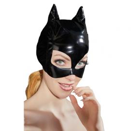 Lak Masker Met Kattenoortjes - Black Level | PleasureToys.nl