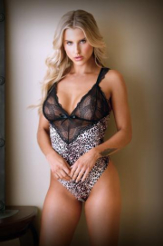 Lorena Body Met Kant - Panterprint - Tease | PleasureToys.nl