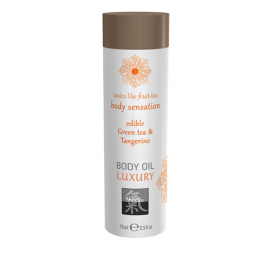 Luxe Eetbare Body Oil - Groene Thee & Mandarijn - Shiatsu | PleasureToys.nl