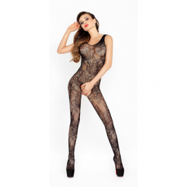 Open kruis catsuit van zwart netstof - Passion | PleasureToys.nl