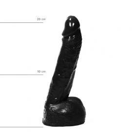 Realistische Dildo 21 cm - All Black | PleasureToys.nl