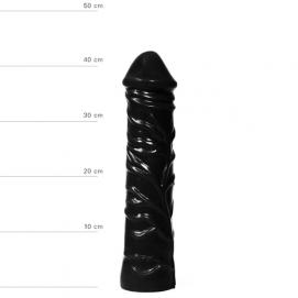 Realistische XXL Dildo - 33 cm - All Black | PleasureToys.nl