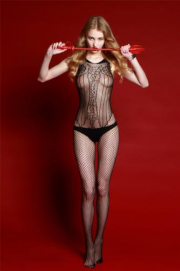 Rimes Catsuit - Black - Rimes Lingerie | PleasureToys.nl