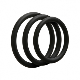 Set van 3 siliconen cockrings - Doc Johnson | PleasureToys.nl