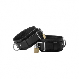 Strict Leather Deluxe Locking Cuffs - Strict Leather | PleasureToys.nl