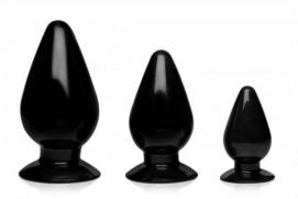 Triple Cones Anaalplug Set Van 3 - Master Series | PleasureToys.nl