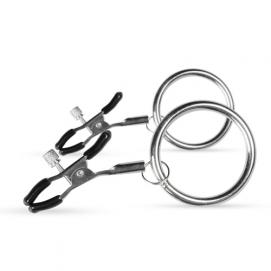 Verstelbare Tepelklemmen Met Grote Ringen - Easytoys Fetish Collection | PleasureToys.nl