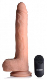 Vibrerende & Stotende Realistische XL Dildo met Zuignap en Ballen -16.5 cm - Big Shot | PleasureToys.nl