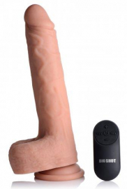 Vibrerende & Stotende Realistische XL Dildo Met Balzak - 17.8 cm - Big Shot | PleasureToys.nl