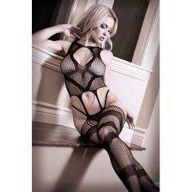 Visnet Catsuit Jarretellook - Sheer Fantasy | PleasureToys.nl