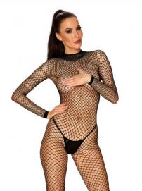 Visnet Catsuit Met Sexy Achterkant - Obsessive | PleasureToys.nl