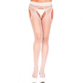 Visnet Panty Met Open Kruis - Music Legs | PleasureToys.nl