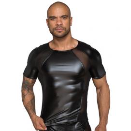 Wetlook Shirt Met Netstof Gedeeltes - Noir Handmade | PleasureToys.nl