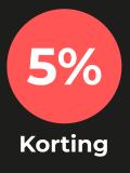 vijf procent korting