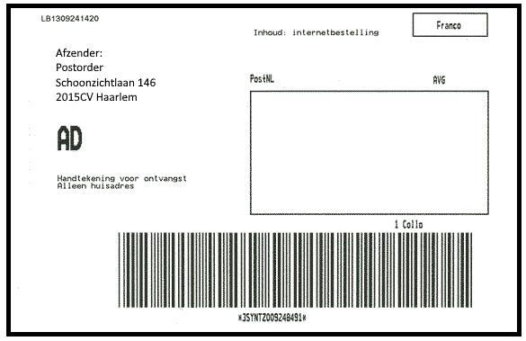 Voorbeeld etiket